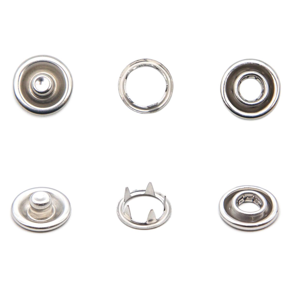 Кнопка трикотажная (кольцо) 10,5мм (никель)