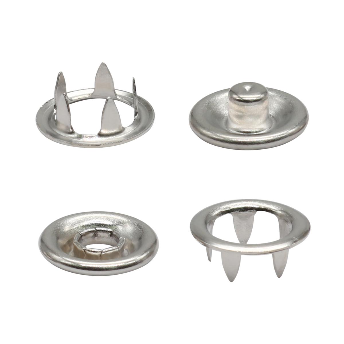 Кнопка трикотажная (кольцо) 9,5мм (никель)