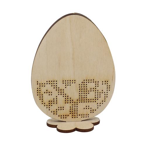L-700 Деревянная заготовка Яйцо пасхальное с бисером 7,5*4,5*10