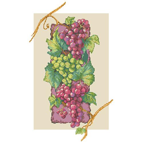 РК-219 Канва с рисунком Hobby&Pro 'Гроздья винограда' 45*35см
