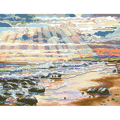 РК-310 Канва с рисунком Hobby&Pro 'Сквозь облака' 40*50см
