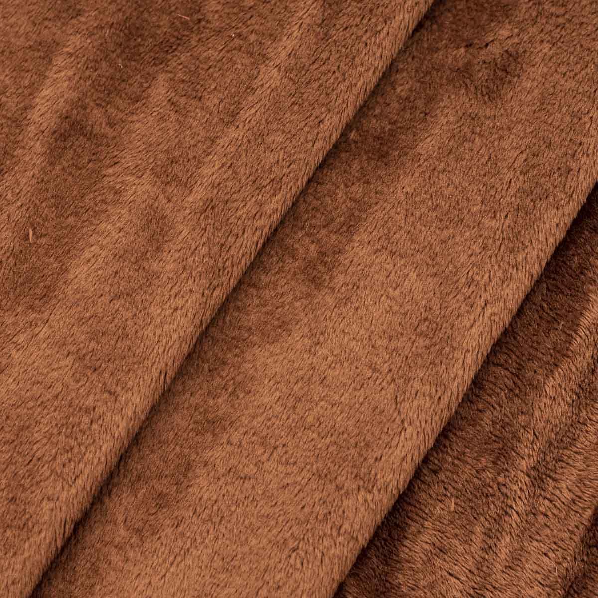 Мех М-1407 коротковорсовый 3мм, 50*50см, 100% п/э, цв. коричневый (38)