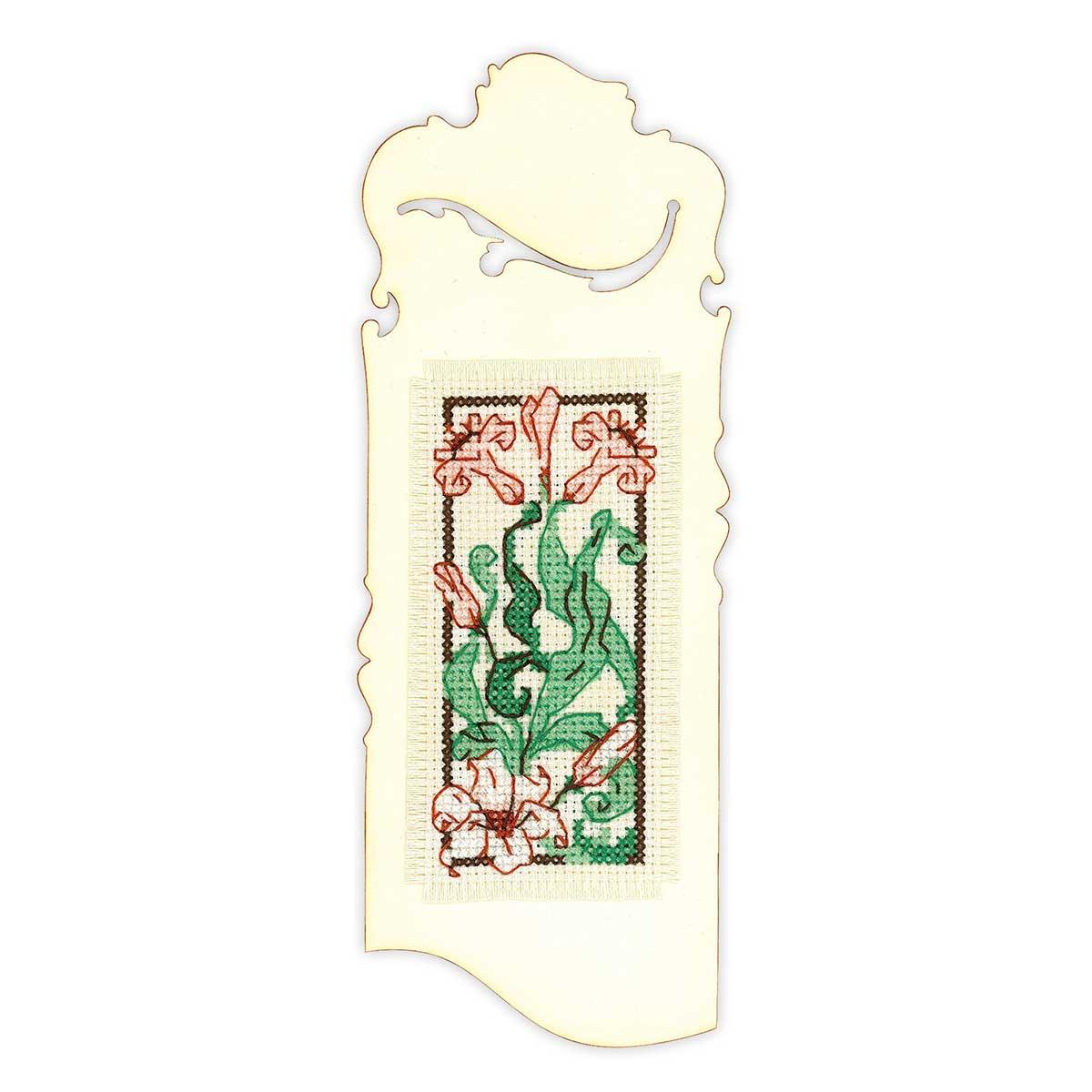 1613АС Набор для вышивания Риолис Бискорню 'Закладка 'Изящная лилия'' 6*16 см