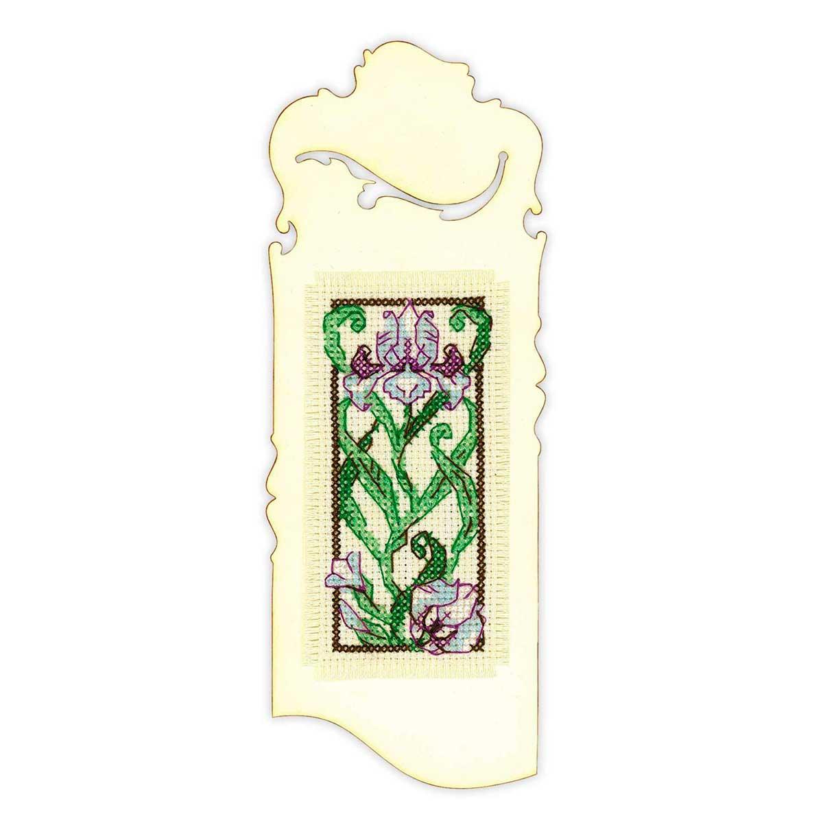 1614АС Набор для вышивания Риолис Бискорню 'Закладка 'Цветущий ирис'' 6*16 см
