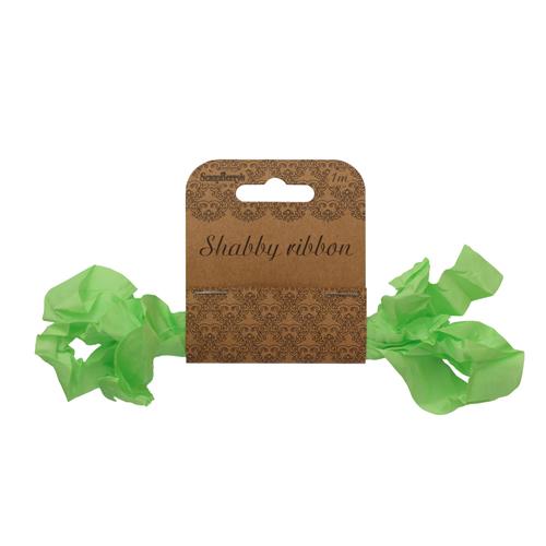 SCB510113 Шебби ленточка, свежая зелень,15мм*1м