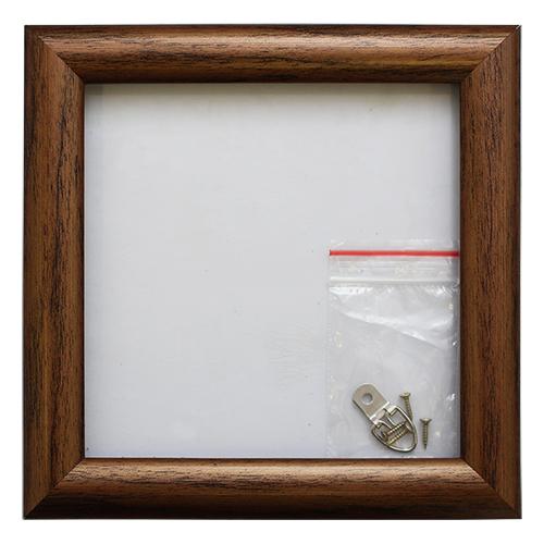 RAM114099 - рама без стекла с прозрачным дном 'АФТОГРАФ' 15*15см. цв. орех