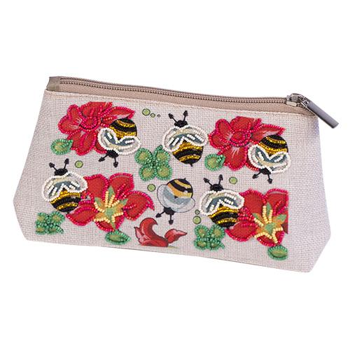 8545 Набор для шитья и вышивания косметичка Матренин Посад 'Пчелкино удовольствие' 21*12см