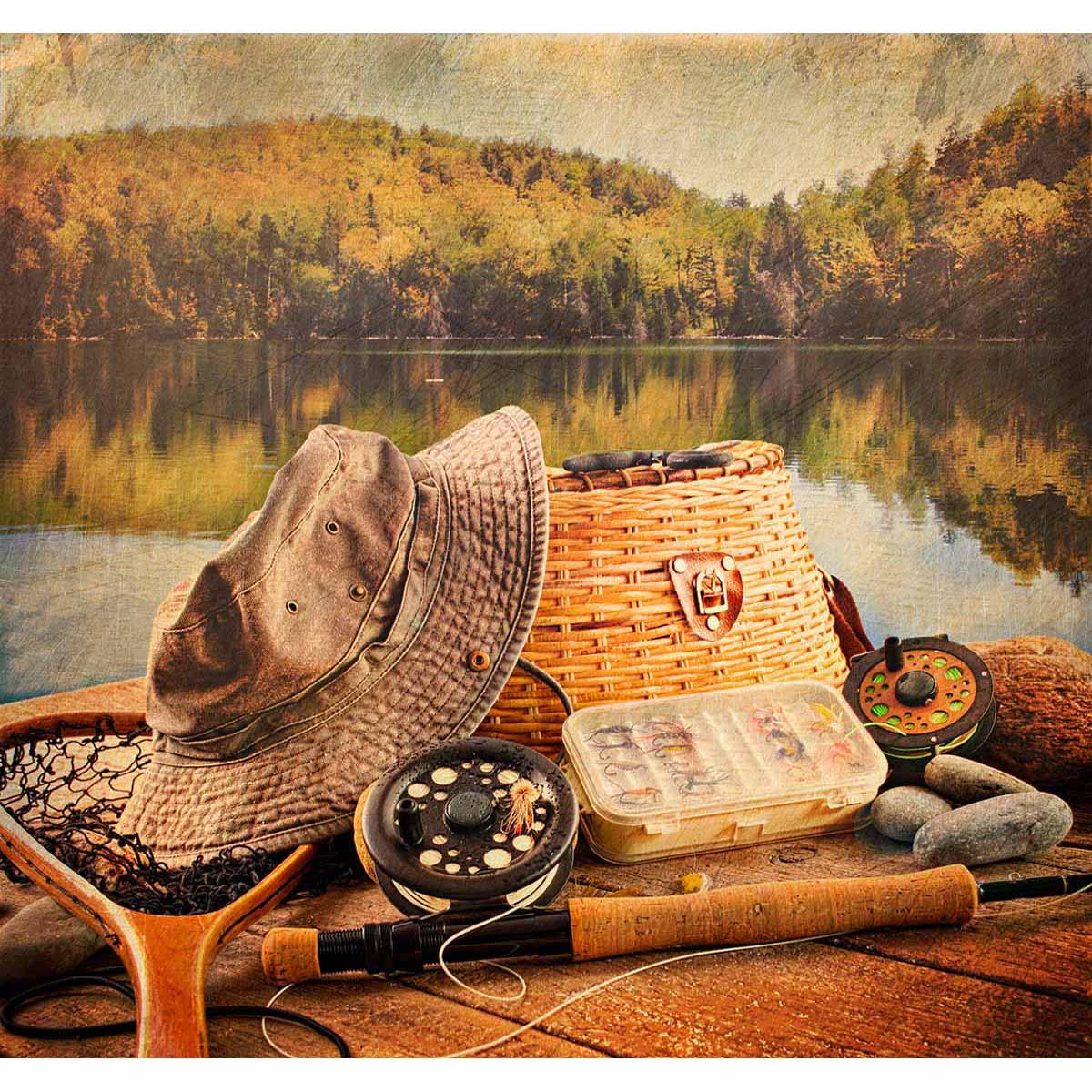 4236 Рисунок на шелке Матренин Посад 'Рыболовный натюрморт' 41*41см