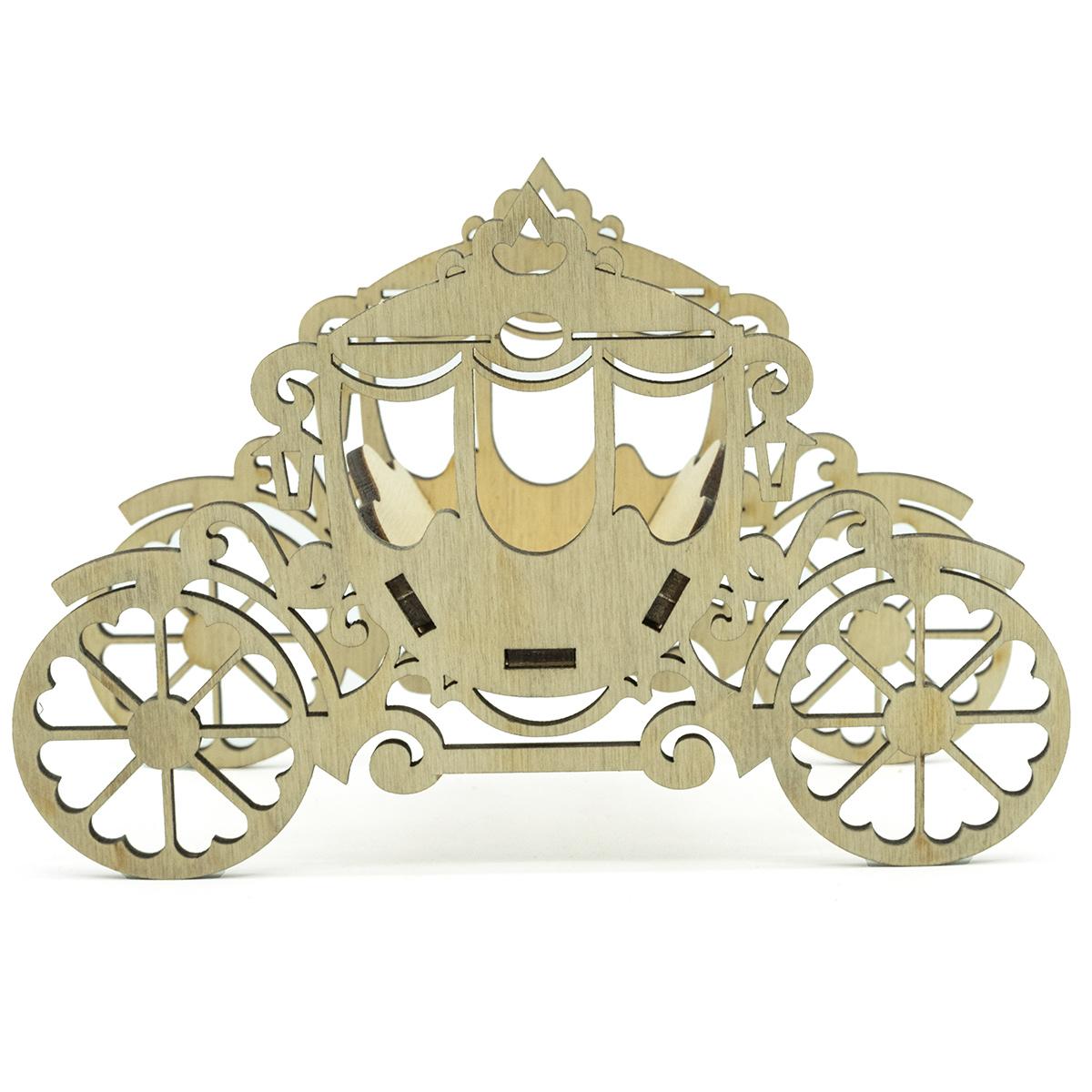L-734 Деревянная заготовка декоративная карета малая 15,5*10,5*6 см, Астра