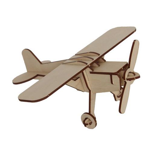 L-747 Деревянная заготовка конструктор 'Сделай сам. Самолет' 20,5*20,5*8,5см Астра