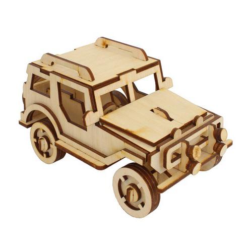 L-750 Деревянная заготовка конструктор 'Сделай сам. Джип' 16*8*8,5 см Астра