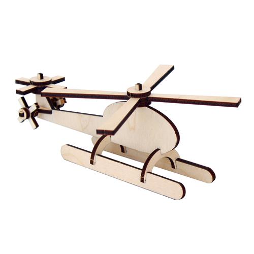 L-755 Деревянная заготовка конструктор 'Сделай сам. Вертолетик' 15*9*5,5 см Астра