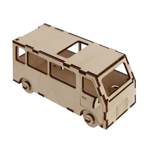 L-756 Деревянная заготовка конструктор 'Сделай сам. Автобус'