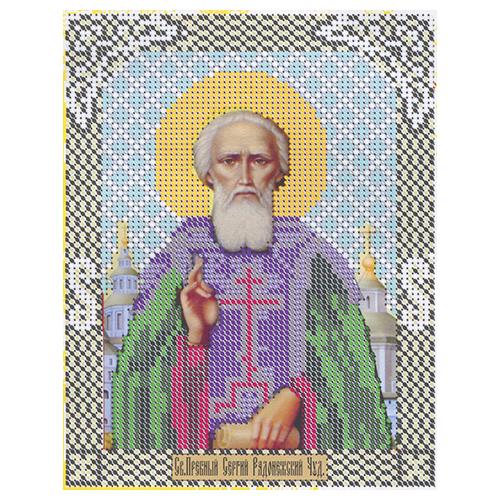 ГЕП-05-009 Набор для вышивания бисером «Св.Сергий Радонежский» 14*18см