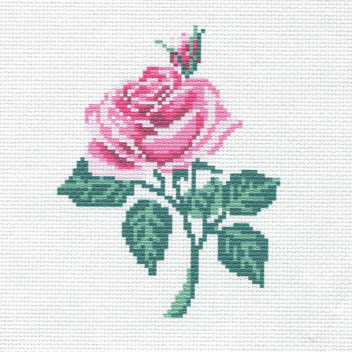 230 Набор для вышивания Василиса 'Роза' 19*19см