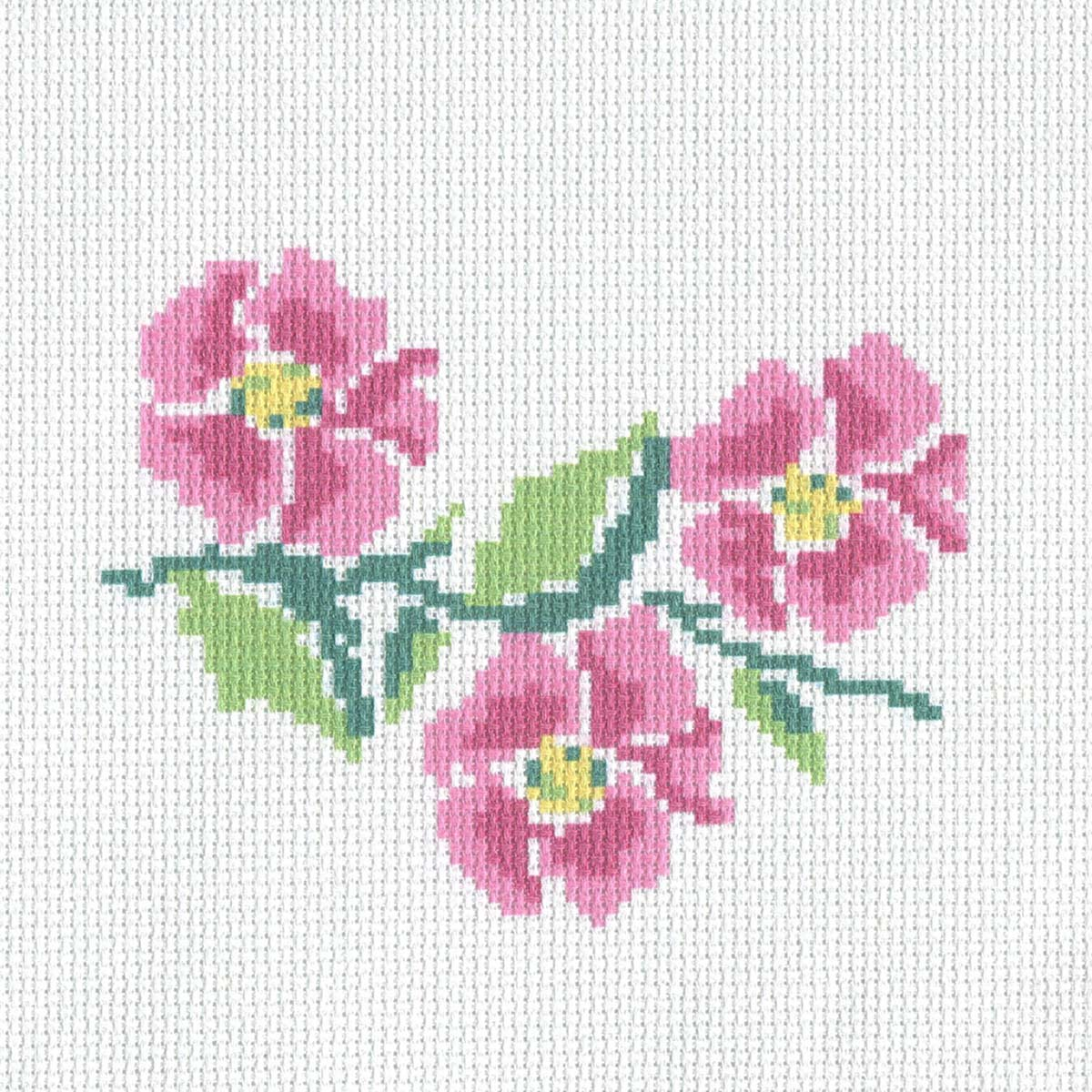 232 Набор для вышивания Hobby & Pro Kids 'Сакура' 19*19см