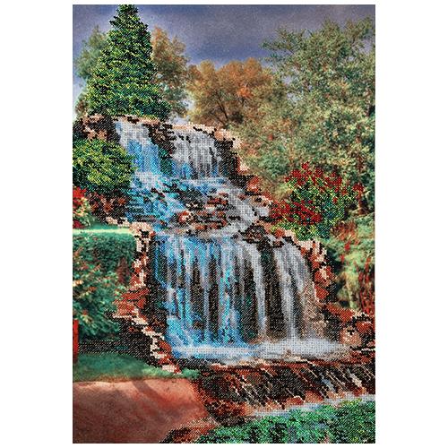 БН-3401 Набор для вышивания бисером Hobby&Pro 'Водопад' 26*38 см