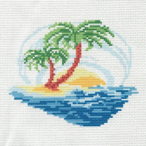 ПК-157 Набор (рис/канв. мулине) Hobby&Pro 'Таинственный остров' 22*22 см