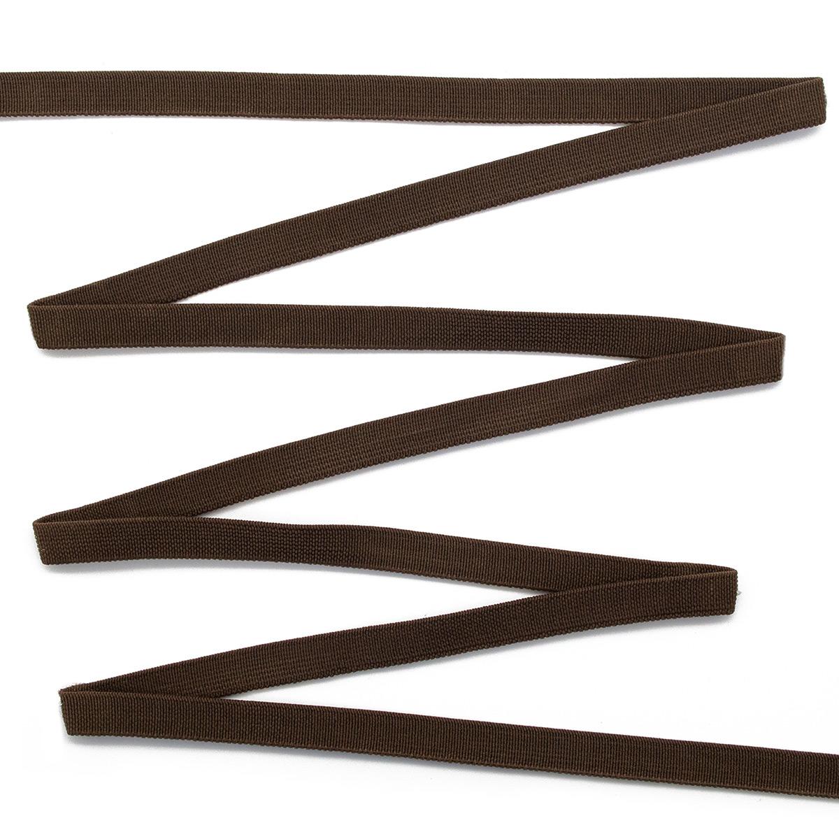 15-4160/9707 Резинка вязаная 10мм*50м т.коричневый