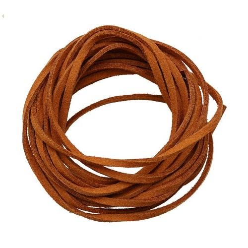 25382 Шнур св.коричневый иск. замша 3*1,5мм-3м