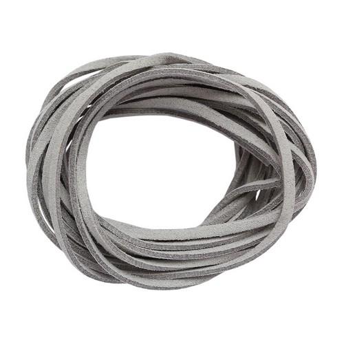 25381 Шнур серый из искусственной замши 3*1,5мм-3м