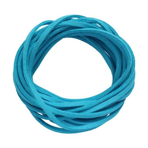 25377 Шнур синий из искусственной замши 3*1,5мм-3м