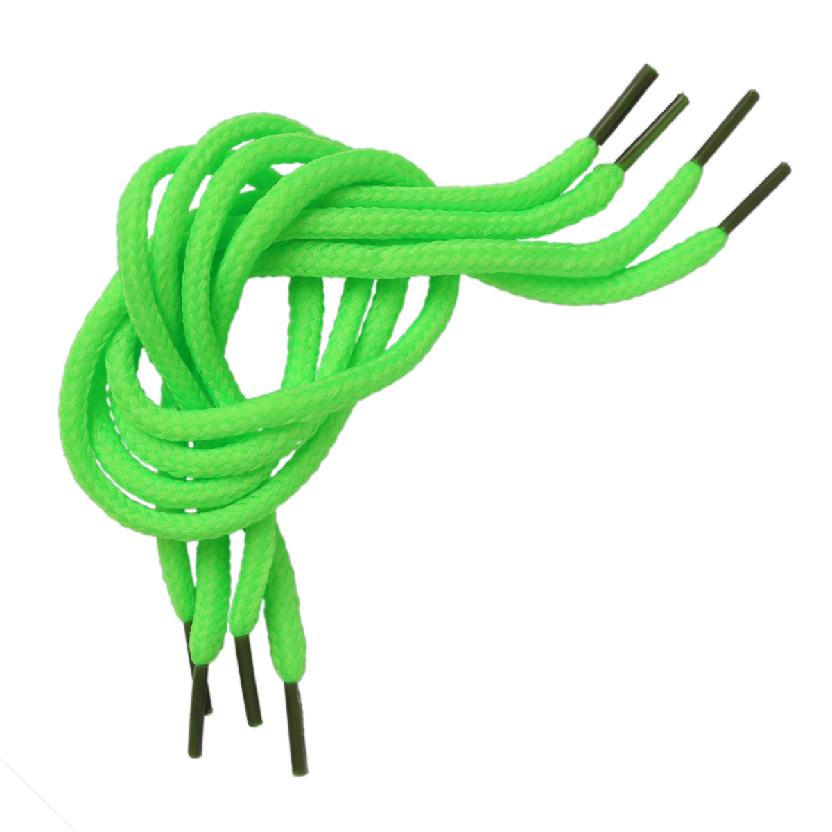 25387 Шнурки обувные для игрушек, 2,5мм*30см, 2 пары, зелёный