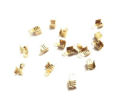 25568 Зажим для шнура 8х4мм, уп.16шт, цв.золото