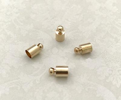 25596 Концевик для шнура 9х5мм, вн.диам. 4,5мм, уп.4шт, цв.золото