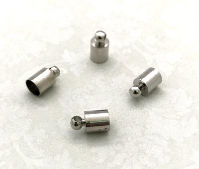 25597 Концевик для шнура 9х5мм, вн.диам. 4,5мм, уп.4шт, цв.никель