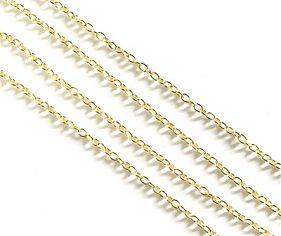 25650 Цепочка метал., якорное плетение, 3,5х3х0.3мм, уп.1,5м, цв.золото