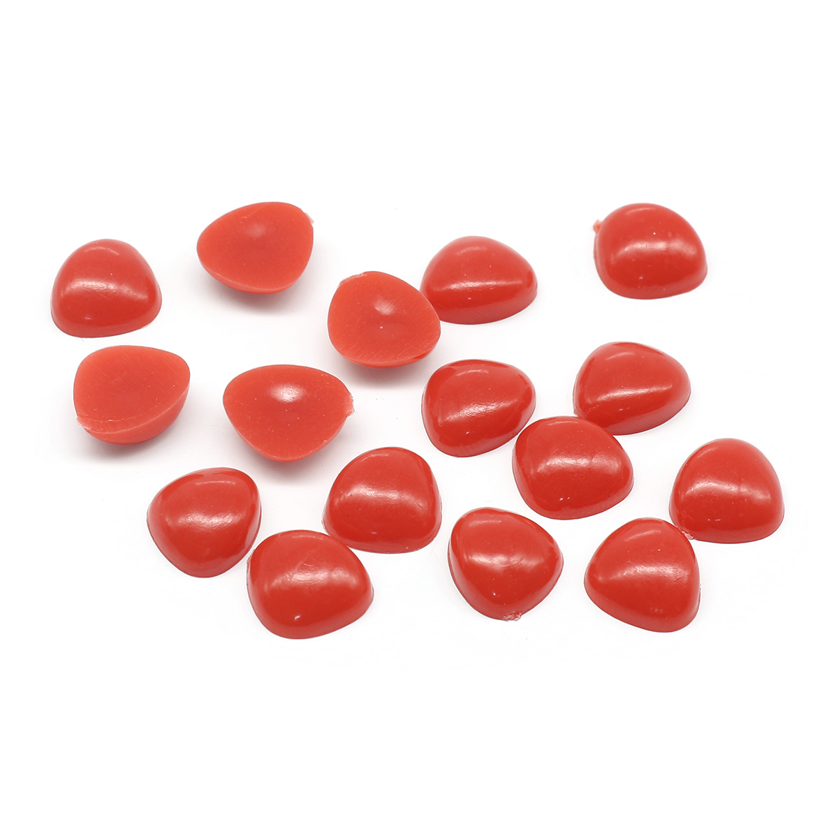 25652 Носик клеевой 12мм треугольный, цв. красный, упак/16шт