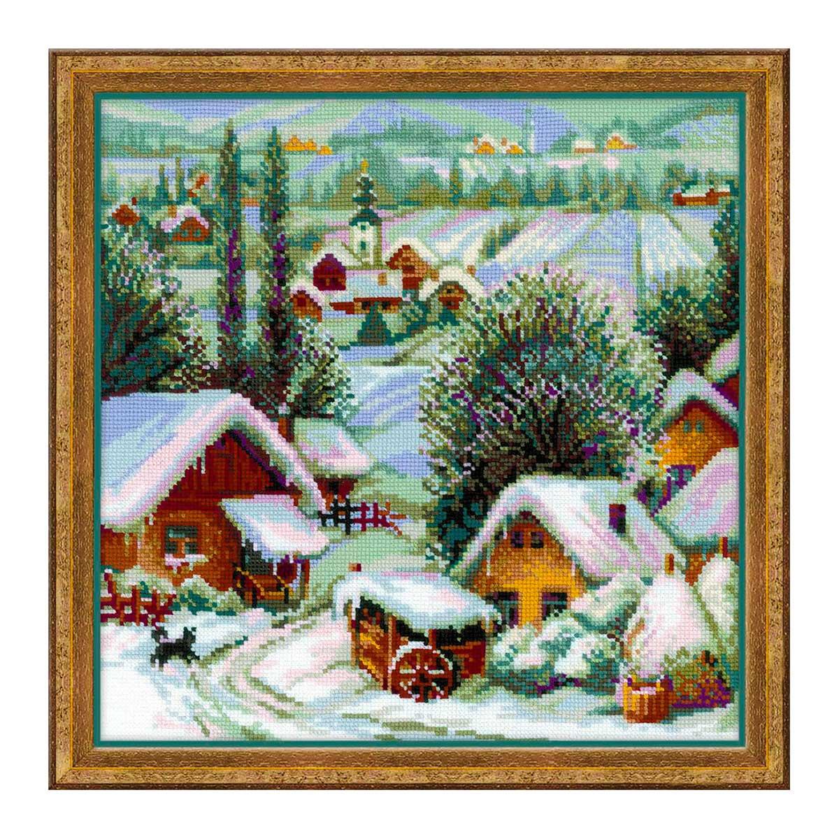 1670 Набор для вышивания Риолис 'Сербское село' 40*40см