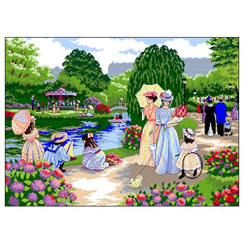 Г-009 Канва с рисунком Гелиос 'Таврический сад' 43,5х57см