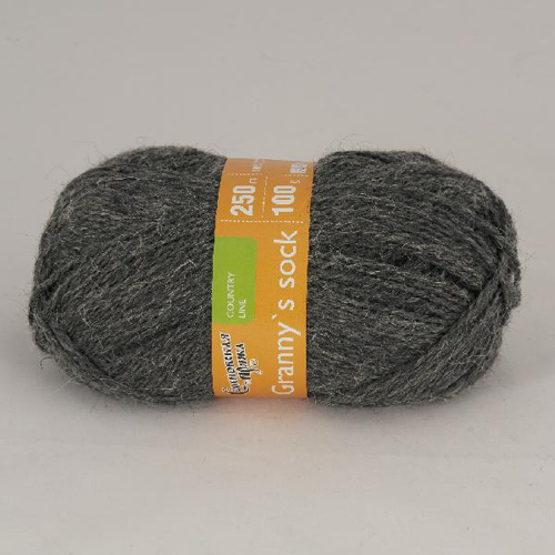 Пряжа Семёновская Granny`s sock W (Бабушкин носок ЧШ) 100гр., 250м. (100% шерсть)