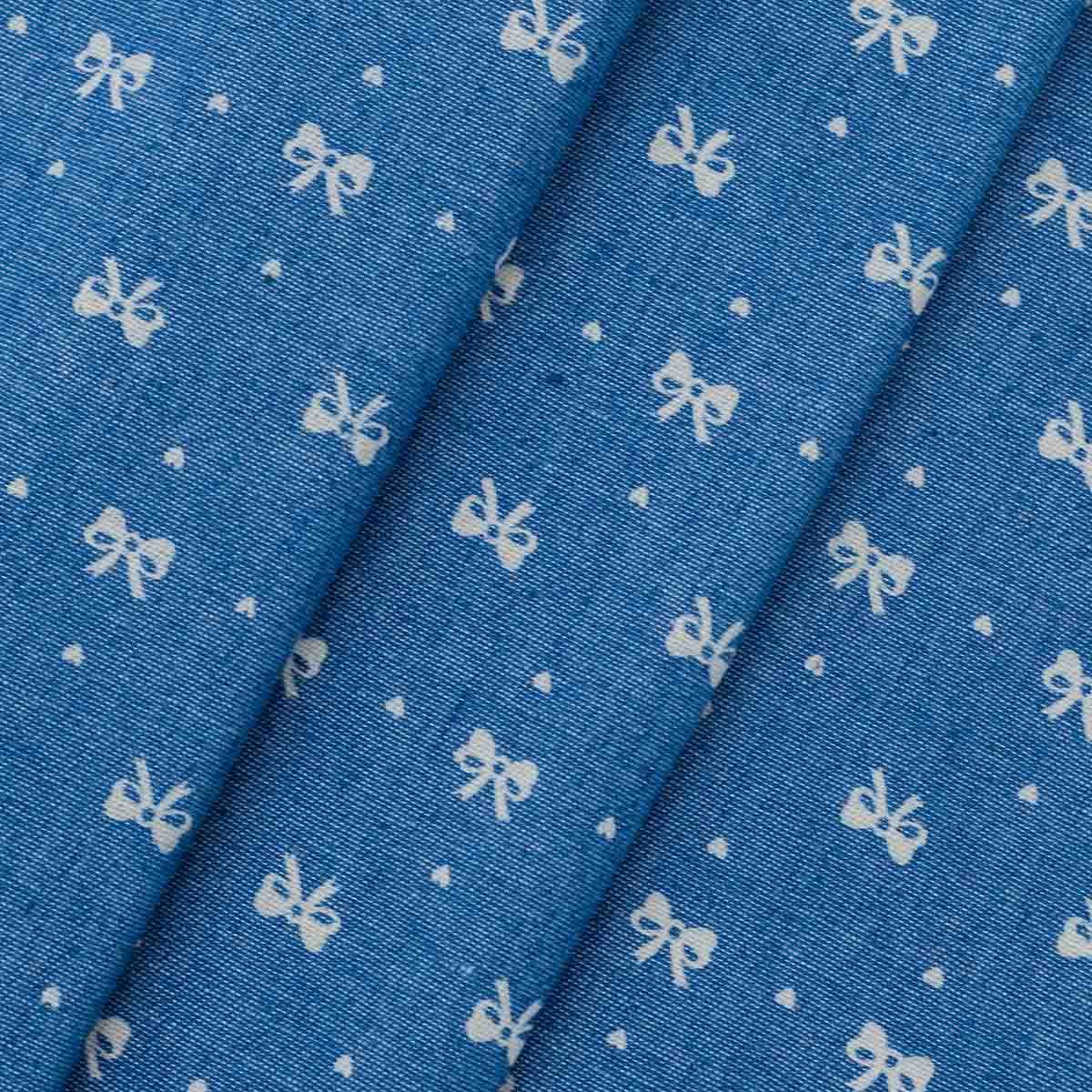 25919 Ткань джинс FD 'Бантик', 48*50см (80%