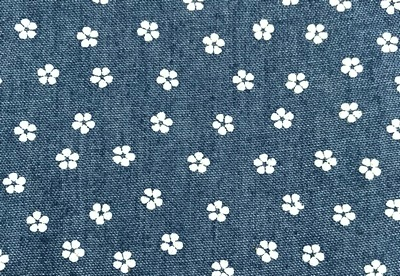 25887 Ткань джинс FD 'Цветок', 48*50см (80%