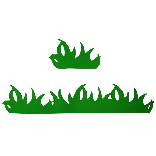 фом12-1-1 Заготовка из фоамирана 'Трава', высота 5 см, 3вида по 5шт, зелёный