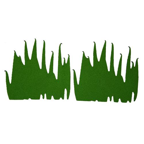 фом11-1-2 Заготовка из фоамирана 'Трава', высота 5 см, 5видов по 5шт, тёмно-зелёный