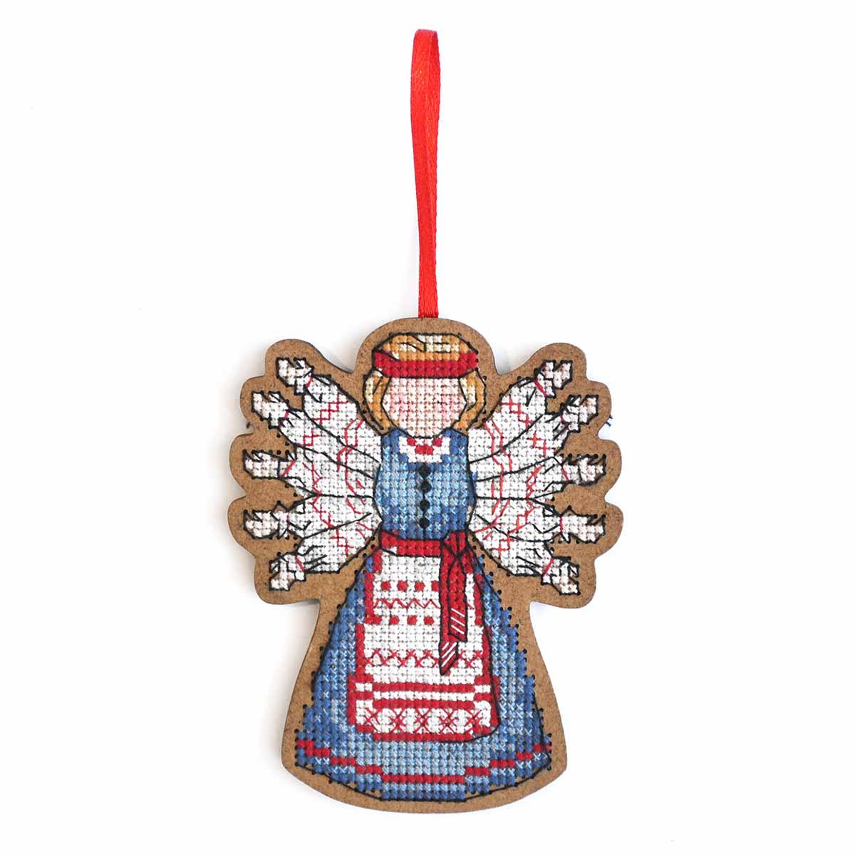 О-102 Набор для вышивания крестом на основе Созвездие 'Помощница. Десятиручка' 9,5*7,5см