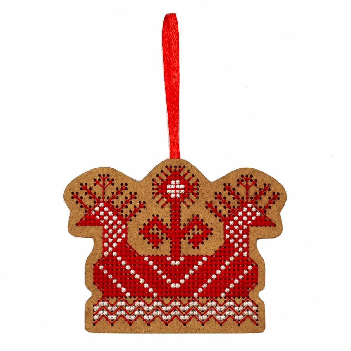 О-110 Набор для вышивания крестом на основе Созвездие 'Солнечная ладья' 6*8 см