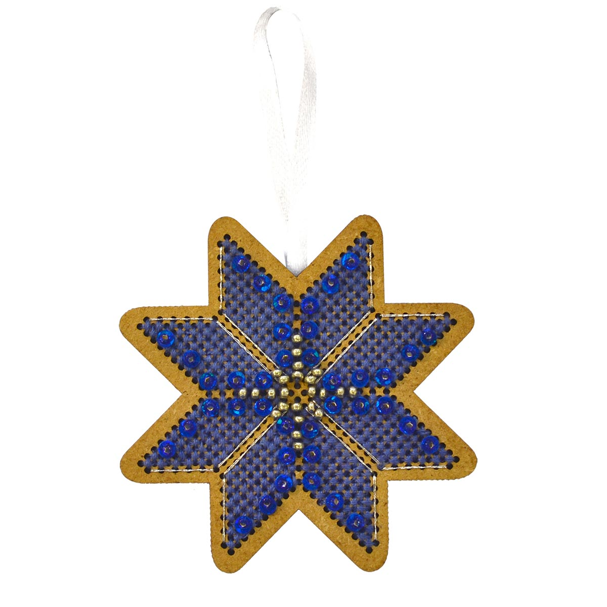 ИК-008 Набор для вышивания крестом на основе Созвездие 'Новогодняя игрушка 'Утренняя звезда'7,5*7,5см