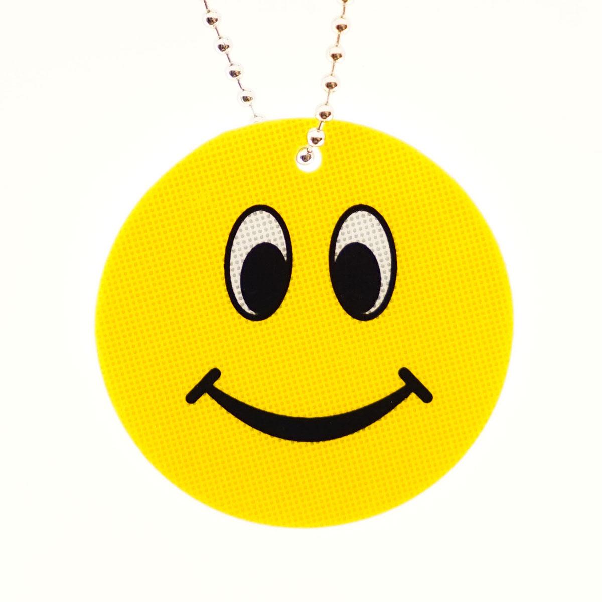 Световозвращатель подвеска пластик 'Смайл улыбка'