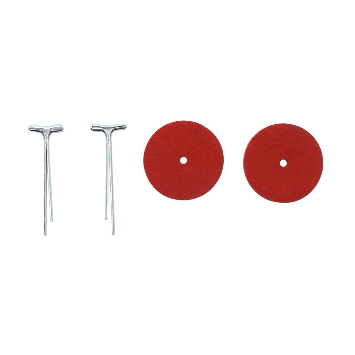 Набор креплений (5 Т-шплинтов,10 дисков фибра 25 мм)
