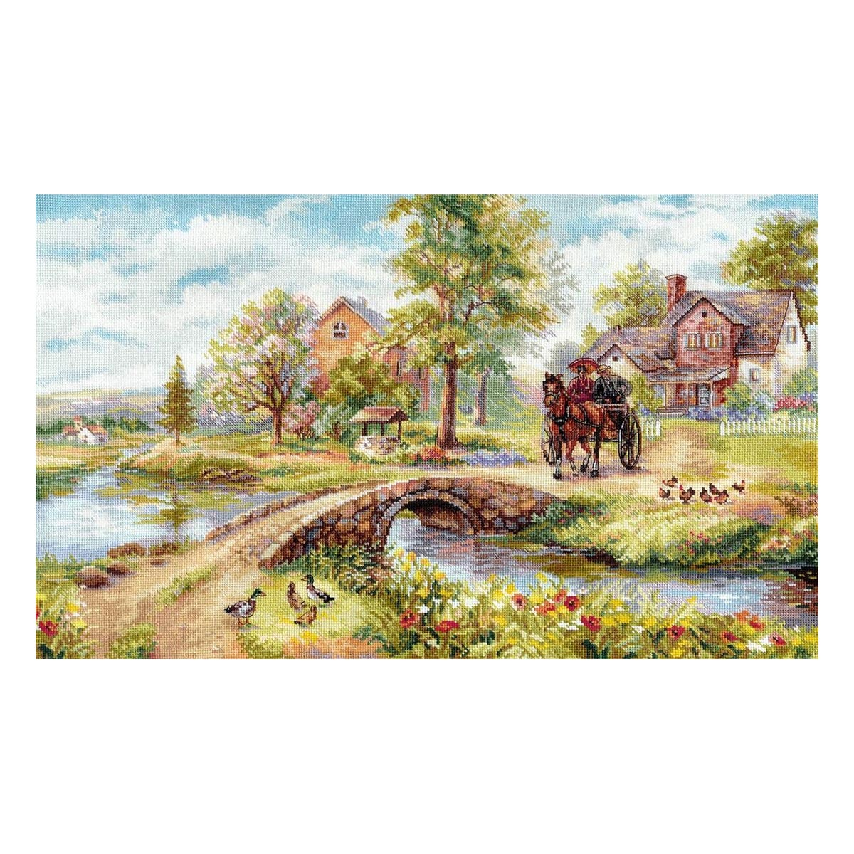 3-25 Набор для вышивания АЛИСА 'Воскресная прогулка' 51*31см