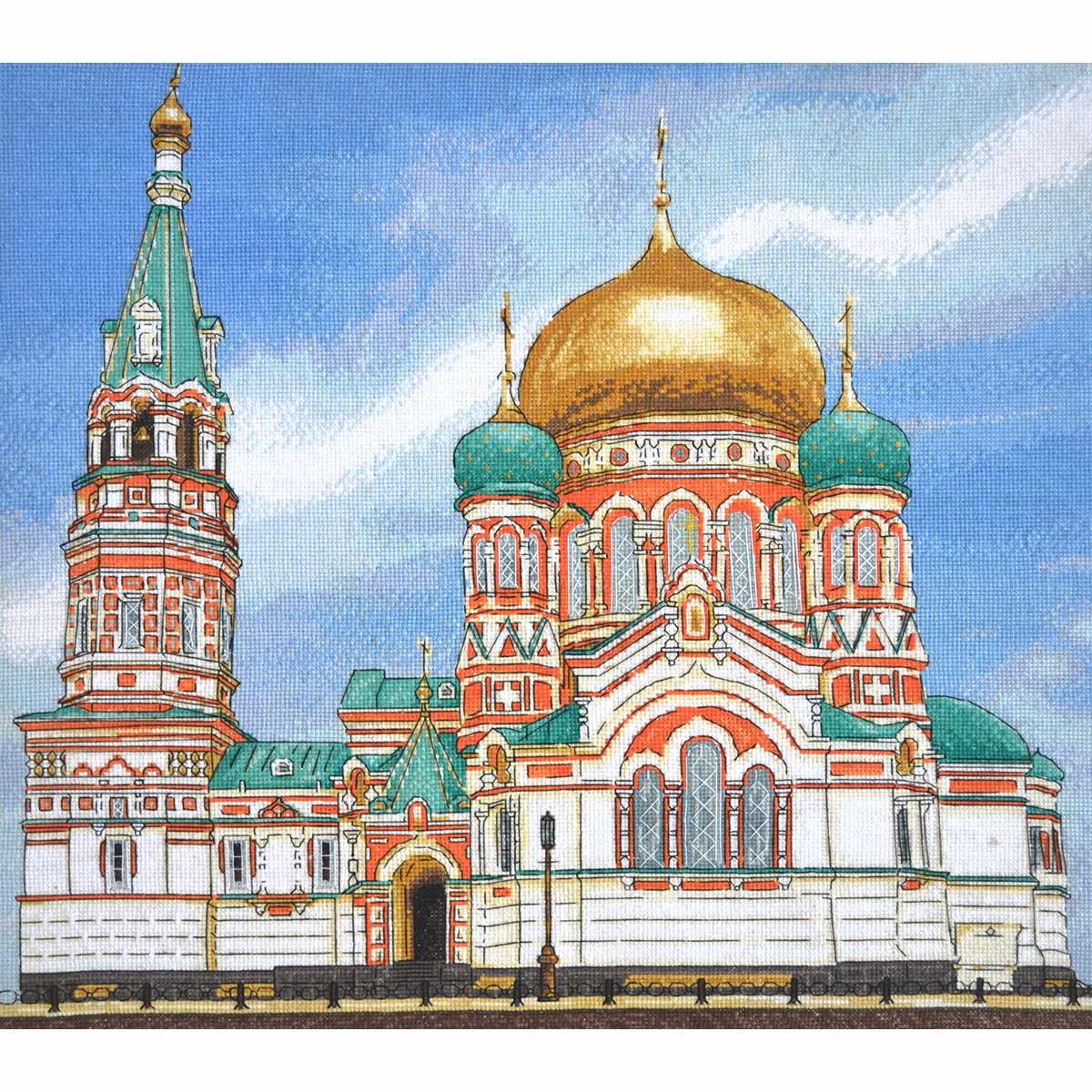 961 Набор для вышивания Hobby&Pro 'Успенский собор г.Омск' 45*41см
