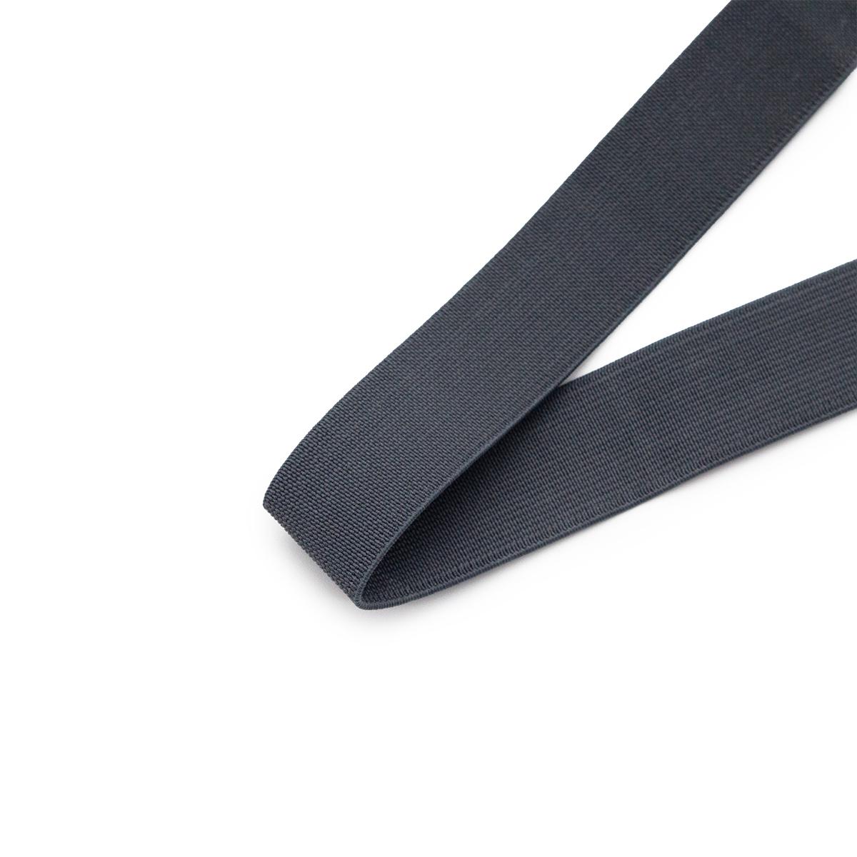 15-3848/1748 Резинка вязаная 25мм*25м т.серый ГР