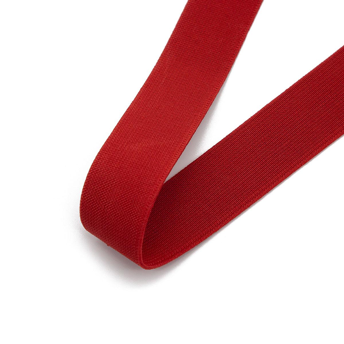 15-3848/9743 Резинка вязаная 25мм*25м красный