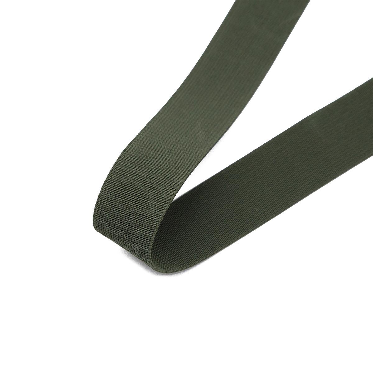 15-3848/9831 Резинка вязаная 25мм*25м оливка ГР