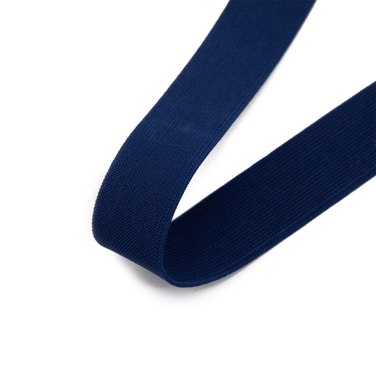 15-3848/9882 Резинка вязаная 25мм*25м т.синий ГР